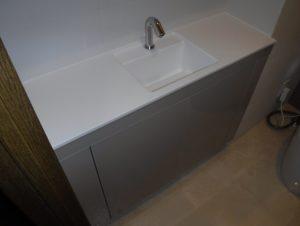 手洗いカウンターも設置